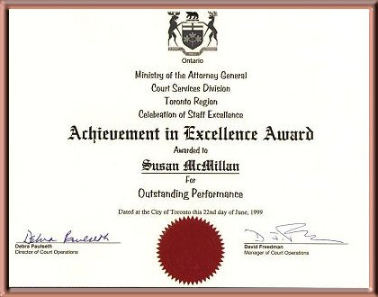 Achievement in Excellence Award